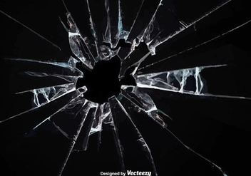 Vector Broken Glass Effect - vector gratuit #360655