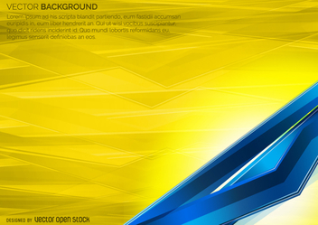 Blue and yellow geometric backdrop - Free vector #360715