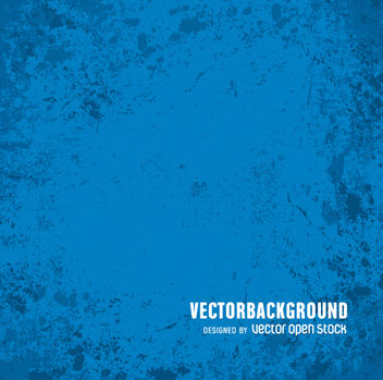 Blue grunge backdrop - vector gratuit #360755