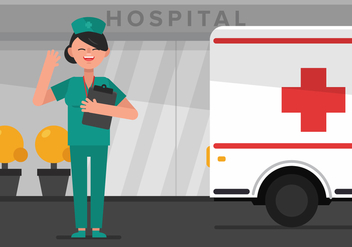 Vector Nurse in Hospital - Free vector #360835