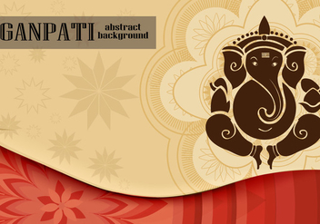 Ganpati Background - vector gratuit #360855