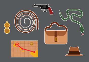 Indiana Jones Vector Elements - vector gratuit #360895