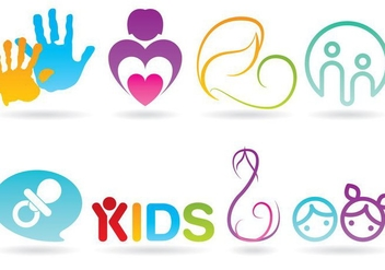 Infant Care Logo Vectors - vector gratuit #360935