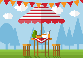 Vector Cafe Table - Free vector #360945