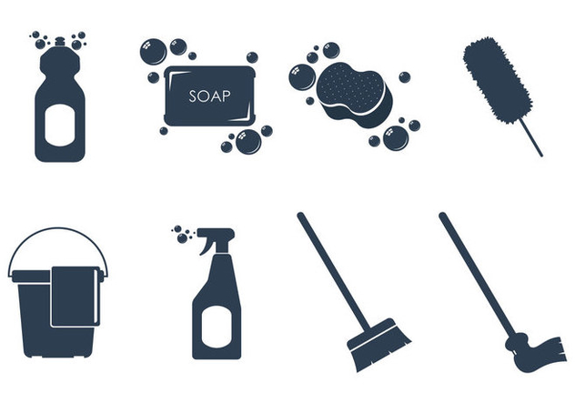 Cleaning Tools Icon Vectors - vector #360995 gratis