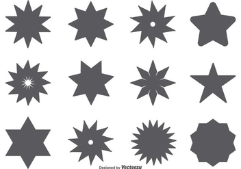 Vector Star Shape Set - Kostenloses vector #361035
