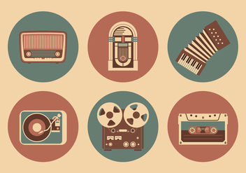 Vintage Musical Objects - vector gratuit #361125