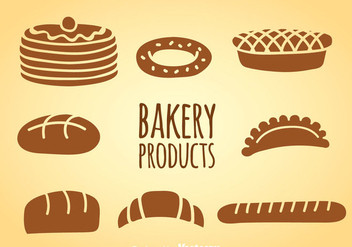 Bakery Products Vector Sets - vector gratuit #361195