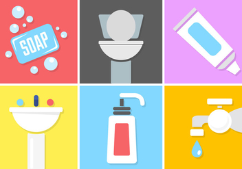 Set Of Hygiene Vector Elements - бесплатный vector #361215