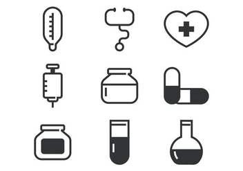 Medical Line Bold Icon - vector gratuit #361275