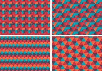 Free Vector Bauhaus Patterns set - бесплатный vector #361295