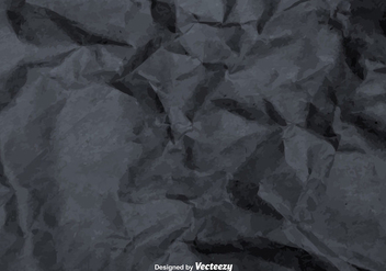 Vector Gray Crumpled Paper Texture - бесплатный vector #361305