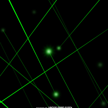 Green laser beams - vector gratuit #361325