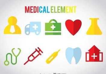 Medical Colorful Icons - Free vector #361395