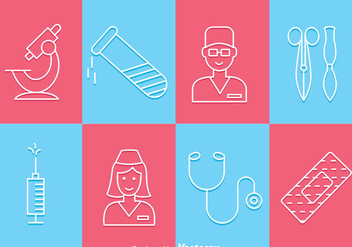 Medical Tin Outline Icons - vector #361415 gratis