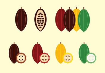 Free Cocoa Fruit and Beans Vector - Free vector #361535