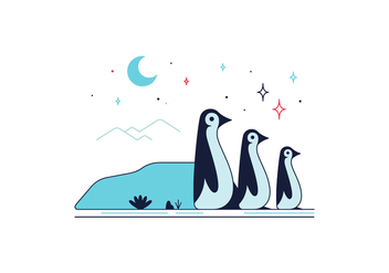 Free Penguins Vector - бесплатный vector #361545
