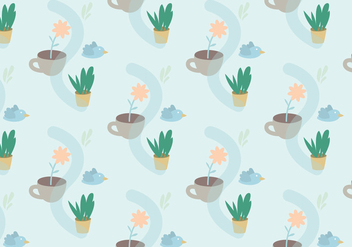 Plants Pastel Pattern - Free vector #361755