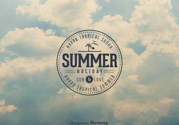 Free Retro Summer Sky Vector Background - бесплатный vector #361845