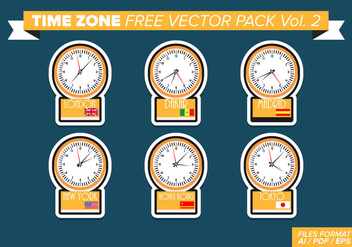 Time Zone Free Vector Pack Vol. 2 - vector #361855 gratis