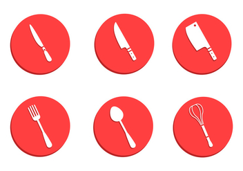 Cutlery and Kitchen Utensil Vectors - vector gratuit #361875