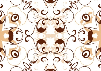 Beige Abstract Foral Pattern - Free vector #361925