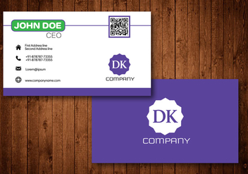 Purple Creative Business Card - vector gratuit #361985
