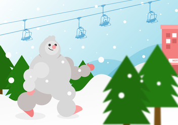 Vector Walking Yeti - vector gratuit #362085