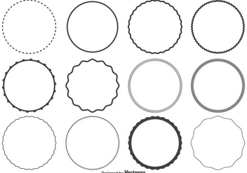 Circle Shapes Set - vector gratuit #362095