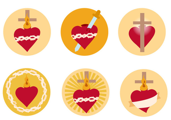 Sacred Heart Free Vector - Free vector #362125