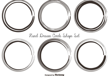Messy Hand Drawn Circle Shape Set - Free vector #362135