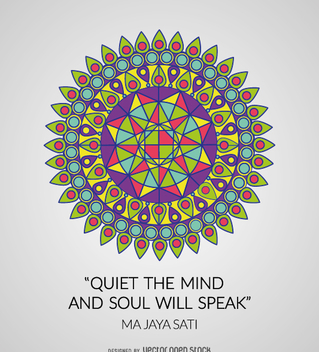 Colorful geometric mandala with quote - Free vector #362215