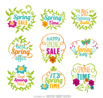 Spring sale vector set - бесплатный vector #362225