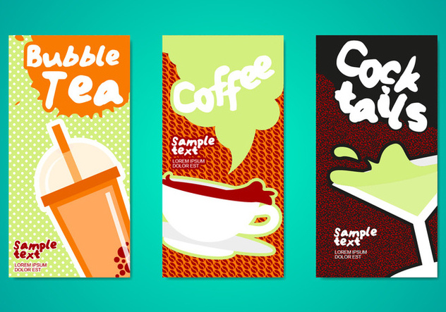 Bubble Tea Drinks Flyers Template - vector #362255 gratis