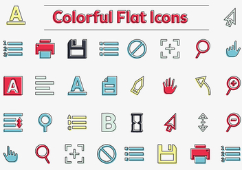 Free Colorful Vector Icons - vector #362425 gratis
