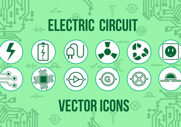Free Electric Vector Icons - vector gratuit #362435