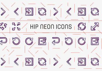 Free Hip Neon Vector Icons - бесплатный vector #362445