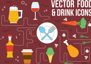 Free Vector Drink and Food Icons - vector #362455 gratis