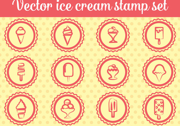 Free Ice Cream Stamp Vectors - vector gratuit #362485