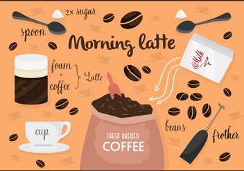 Free Vintage Coffee Vector Background - Kostenloses vector #362495