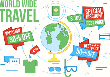Free Travel Vector Illustration - бесплатный vector #362515