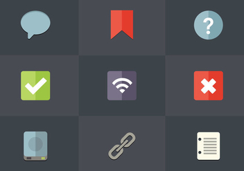 Free Flat Icon Set 10 Vector - Free vector #362545