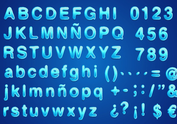 Water Font Vector Free - Free vector #362605