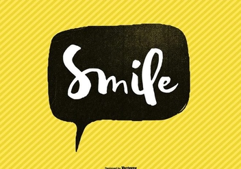 Hand Lettered Smile Speech Bubble Vector - Free vector #362615
