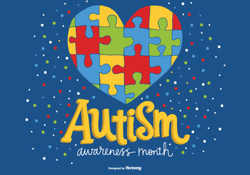 National Autism Awareness Month Vector - vector gratuit #362625