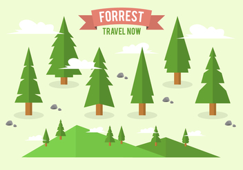 Free Flat Forrest Tree Background Collection - Free vector #362635