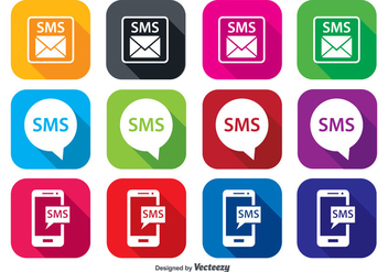 SMS Icon Set - vector #362685 gratis