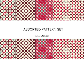Assorted Pattern Set - Kostenloses vector #362695