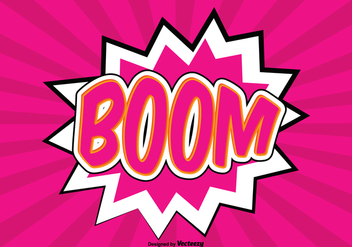 Comic Style BOOM Background Illustration - Free vector #362715
