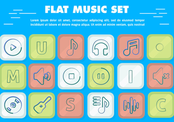 Free Flat Vector Music Icons - Free vector #362725